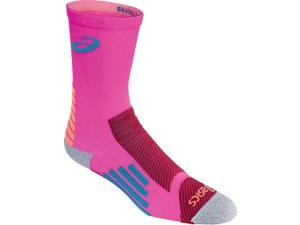 Asics 2016 Rally Crew Cut Socks - ZK2372 (Pink Glow/Deep Ruby - S)