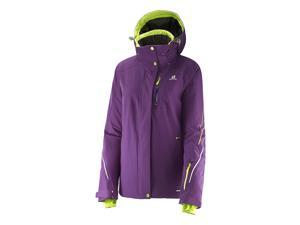 Salomon 2015/16 Women's Brillant Ski Jacket (Cosmic Purple - S)