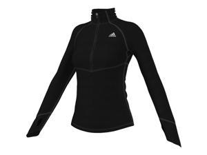 Adidas Outdoor 2015 Women's TechFit ClimaWarm 1/2 Zip Training Top (Black/Matte Silver - XL)