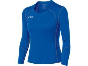 Asics 2015/16 Jr Volleycross Long sleeve Volleyball Jersey - BT2511 (Royal/Steel Grey - L)