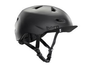 Bern 2016 Men's Brentwood Summer Bike Helmet w/Flip Visor (Matte Black w/ Flip Visor - S/M)