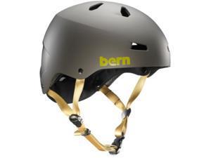 Bern 2015 Men's Macon EPS Summer Bike/Skate Helmet - w/Crank Fit (Matte Charcoal Grey - L/XL)