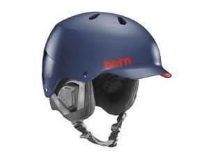 Bern 2015/16 Watts EPS Winter Snow Helmet - w/Liner (Matte Navy Blue w/ Black Liner - S/M)