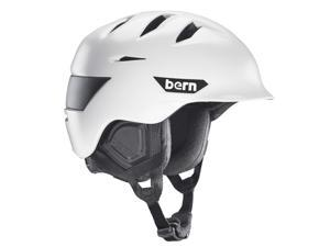 Bern 2016/17 Rollins Zip Mold Winter Snow Helmet (Satin White w/ Black Liner - XXL/XXXL)