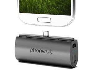 PhoneSuit Flex Pocket Micro USB Mobile Device Charger - PS-MICRO2-B2 (Black)