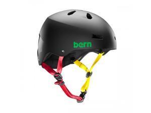 Bern 2015 Men's Macon EPS Summer Bike/Skate Helmet (Matte Black Rasta - L)