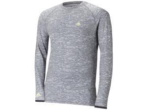 Adidas 2015 Men's ClimaWarm Long Sleeve Camo Print Baselayer Shirt (Mid Grey/Vista Grey - 2XL)
