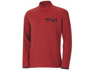 Adidas Golf 2016 Men's Sport Performance 1/2 Zip Sweater (Power Red Heather/Mid Grey - XL)