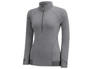 Adidas 2015 Women's Advance Heathered Rangewear 1/2 Zip Jacket (Medium Grey Heather - XS)