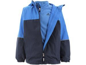Adidas Outdoor 2015 Boy's ClimaProof 3 in 1 Lieblings Hooded Jacket (Midnight Grey/Super Blue - M)