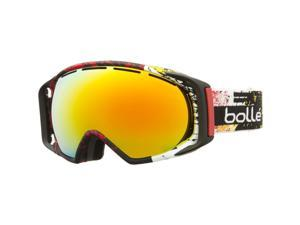 Bolle Gravity Snow Goggles - Matte Black Red Frame - Fire Orange Lens - 21298