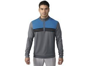 Adidas Golf 2016 Men's ClimaCool Color - Blocked 1/4 Zip Long Sleeve Top (Vista Grey - L)