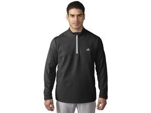 Adidas Golf 2016 Men's ClimaStorm Hybrid Heathered 1/4 Zip Long Sleeve Pullover (Black/Stone - S)