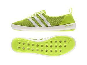 Adidas Outdoor 2016 Women's ClimaCool Boat Sleek Water Sport Shoes - AF6082 (Halo/Chalk White/Semi Solar Slime - 7.5)