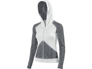Asics 2016 Women's Morgan Fullzip Beach Volleyball Hoodie - BV2697 (Graphite/White - L)