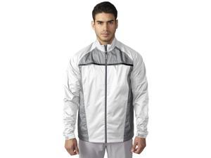 Adidas 2016 Men's ClimaStorm Essential Packable Rain Jacket (Solid Grey/Black - L)