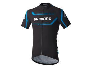 Shimano 2016 Men's Performance Print Short Sleeve Cycling Jersey - ECWJSGSPS51M (Black - M)