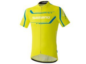 Shimano 2016 Men's Performance Print Short Sleeve Cycling Jersey - ECWJSGSPS51M (Lime Yellow - L)