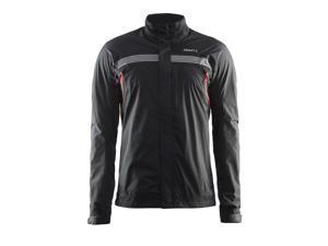 Craft 2016 Men's Escape Rain Cycling Jacket - 1903808 (Black/Bright Red - M)