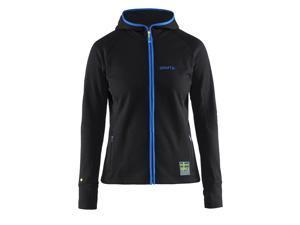 Craft 2015/16 Women's US Ski Team Warm Hood Jacket - 1904380 (Black/Blue - L)