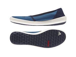 Adidas Outdoor 2016 Women's Boat Slip-On Sleek Water Sports Shoes - AF6072 (Shock Blue/Collegiate Navy/Chalk White - 5.5