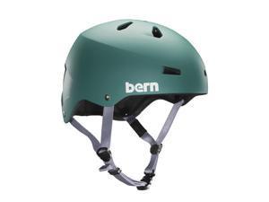 Bern 2016 Men's Macon EPS Summer Bike/Skate Helmet - w/Crank Fit (Matte Green - L/XL)