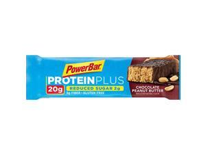 PowerBar ProteinPlus Reduced Sugar 20g Energy Bar - Box of 15 (Chocolate Peanut Butter)