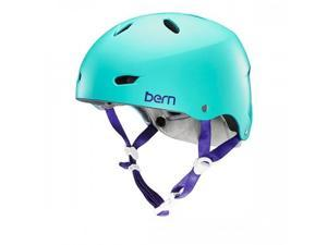 Bern 2016 Women's Brighton Summer H2O Water Sports Helmet w/Brock Foam (Satin Seafoam Green - M)