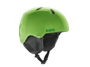 Bern 2015/16 Youth/Teen Diablo EPS Thin Shell EPS Winter Snow Helmet (Translucent Neon Green w/ Black Liner - M/L)
