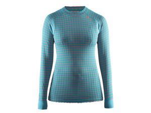 Craft 2017 Women's Active Extreme CN 2.0 Long Sleeve Shirt - 1904491 (Gale/Calypso - XS)