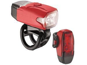 Lezyne LED KTV Drive Bicycle Headlight/Tail Light Pair (Red)
