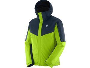 Salomon 2016/17 Mens Stormseeker Jacket (Granny Green/Big Blue-X - XL)