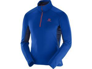 Salomon 2016/17 Mens Discovery Active Half Zip Jacket (Blue Yonder/Big Blue-X - XL)