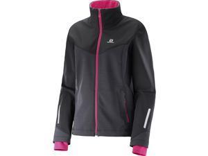 Salomon 2016/17 Womens Pulse Softshell Jacket (Black/Yarrow Pink - S)