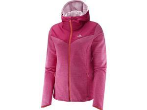 Salomon 2016/17 Womens Elevate Full Zip Mid Jacket (Gaura Pink - S)