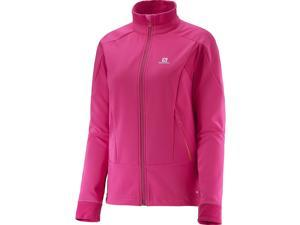 Salomon 2016/17 Womens Momemtum Softshell Jacket (Yarrow Pink/Gaura Pink - S)