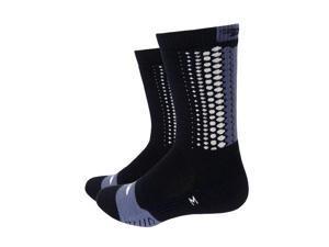 DeFeet Thermeator 6inch Tread Cycling/Running Socks - THERMTR (Tread - Black/Graphite - L)