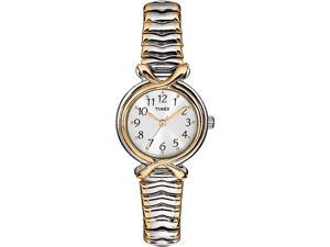 Timex Timex Womens Elevated Classics Two Tone Expansion Watch - T21854
