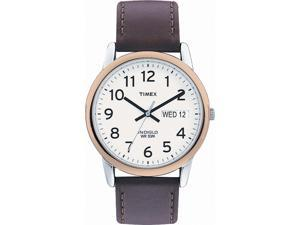 Timex Timex Mens Easy Reader Brown Leather Strap Watch - T20011