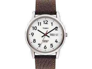 Timex Timex Mens Easy Reader Brown Leather Strap Watch - T20041