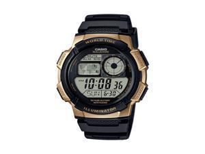 Casio Mens Casio World Time Illuminator Watch - AE1000W-1A3V