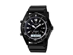 Casio Mens Casio Analog-Digital Dive Style Stainless Steel Watch - AMW320B-1A