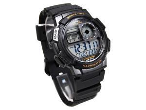 Casio Mens Casio Black Sport Watch - AE1000W-1AVCF