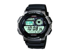 Casio Mens Casio Black Digital/Analog Watch - AE1000W-1BVCF
