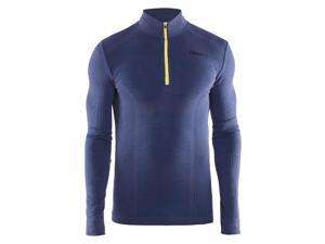 Craft 2016/17 Men's Wool Comfort Zip Long Sleeve Base Layer - 1904487 (Deep - L)