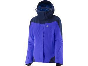 Salomon 2016/17 Womens Icerocket Jacket (Phlox Violet/Wisteria Navy - XL)