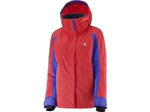 Salomon 2016/17 Womens Stormspotter Jacket (Infrared/Phlox Violet - M)