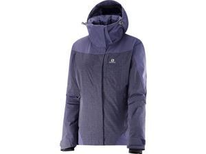 Salomon 2016/17 Womens Icerocket Mix Jacket (Nightshade Grey/Daybreak Grey - XL)