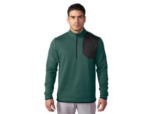 Adidas Golf 2017 Men's Club Performance 1/2 Zip Long Sleeve Sweater (Tech Forest - S)