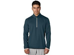 Adidas Golf 2017 Men's ClimaHeat Fleece 1/4 Zip Long Sleeve Layering Top (Utility Green - 2XL)